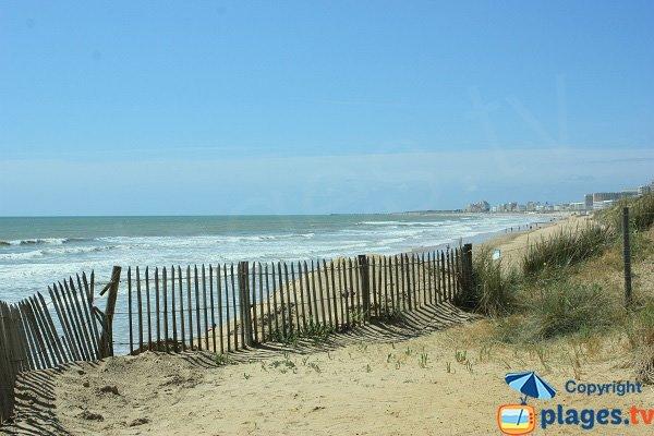 Photo de la plage des 60 Bornes à St Hilaire Riez
