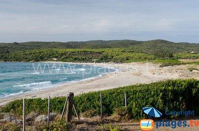 Beach in Ajaccio in Corsica