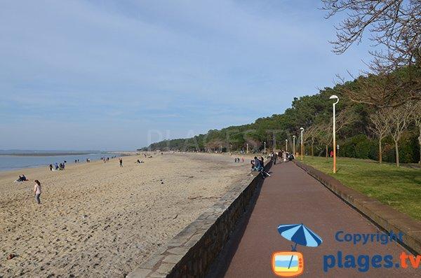 Promenade piétonne le long de la plage des Abatilles - Arcachon