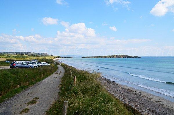 Aber beach in Crozon in Brittany