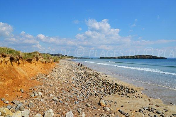 Grande plage sauvage à Crozon
