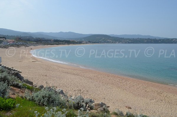 Beach in South of Ajaccio Gulf - Agosta - Porticcio