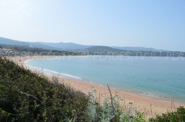 Agosta beach in Porticcio in Corsica