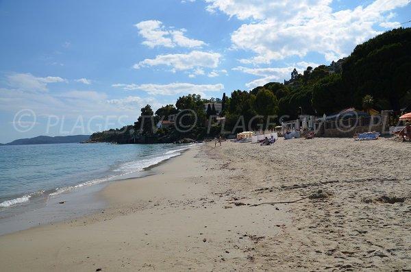 Spiaggia Aiguebelle e vista punta della Fossette - Lavandou