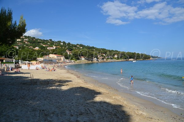 Aiguebelle beach in Lavandou in France