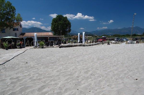 Restaurant sur la plage d'Alistro à San Giuliano