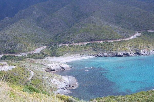 Photo de la plage d'Alisu dans le Cap Corse
