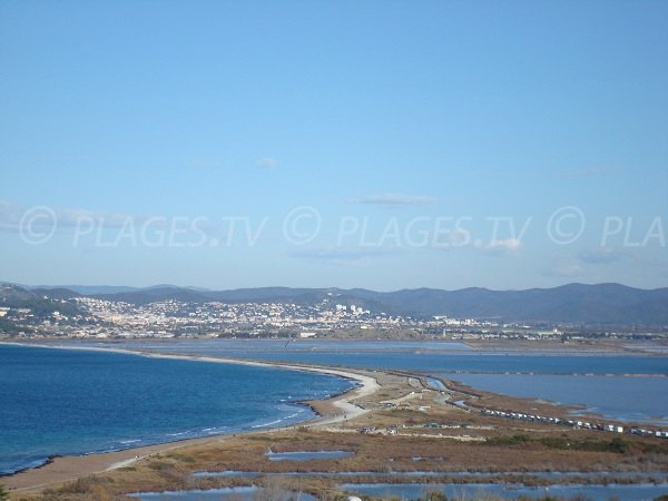 Photo of Almanarre beach from the Giens peninsula - France