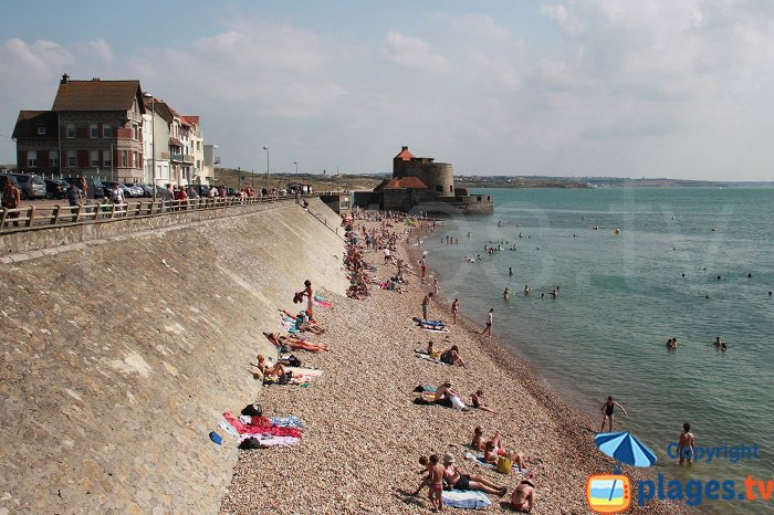 La plage d'Ambleteuse en été