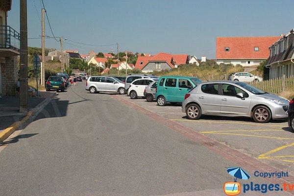 Parking of Ambleteuse beach