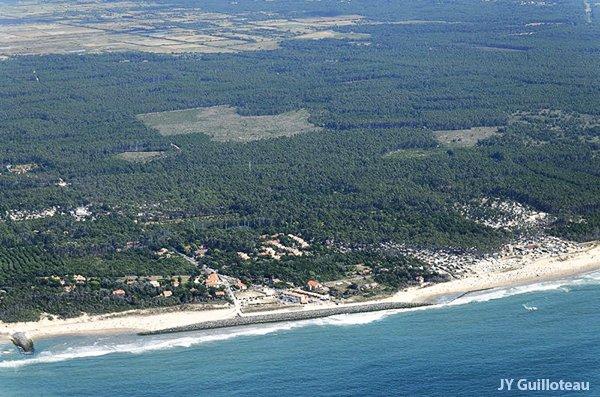 Photo aérienne de la plage d'Amélie à Soulac sur Mer