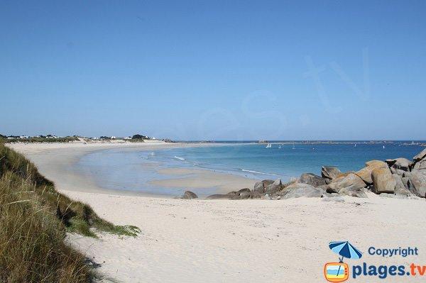 Photo de la plage des Amiets à Cléder en Bretagne