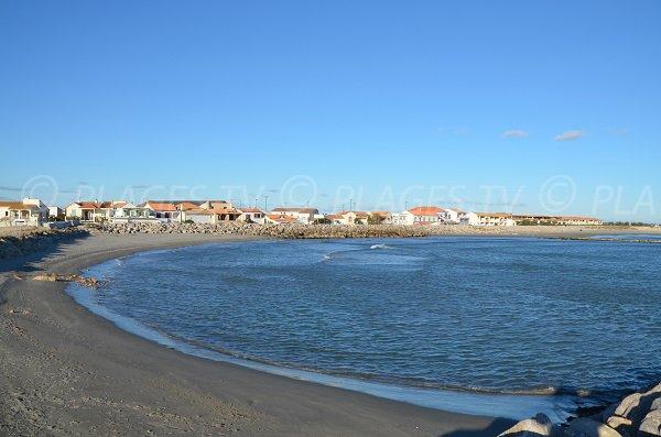 Strand der Saintes Maries in der Nähe des Zentrums der Thalassotherapie
