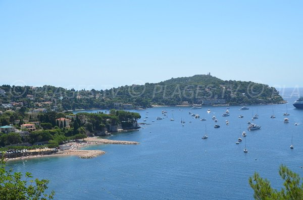 Photo of the Guardian Angel beach in Villefranche sur Mer in summer