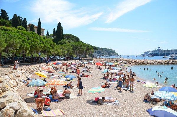 Beach in Villefranche sur Mer in summer