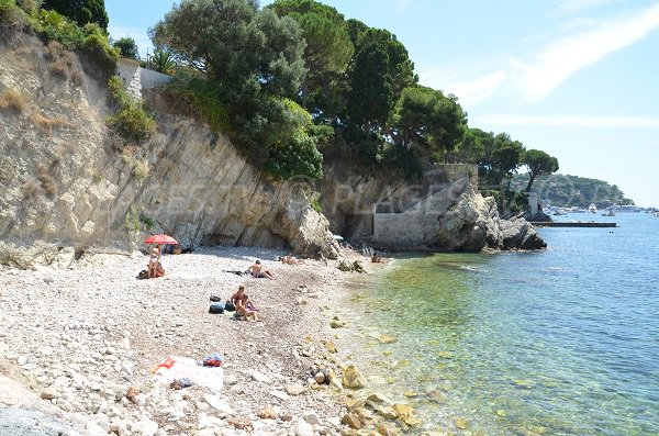 Beach for dogs in Villefranche sur Mer in France