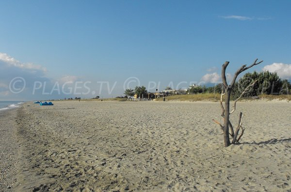 Photo de la plage d'Anghione en Corse