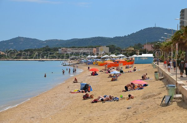 Private beaches of Anglade in Lavandou