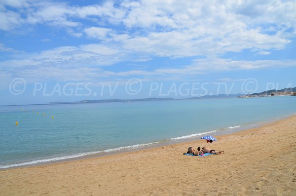 Vista da Porquerolles - spiaggia del Lavandou
