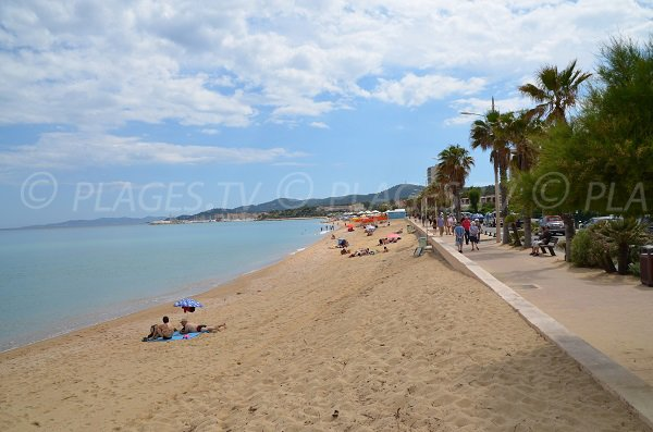 Anglade beach in Lavandou in France