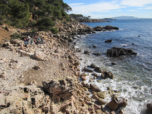 Anglaise beach of Bandol