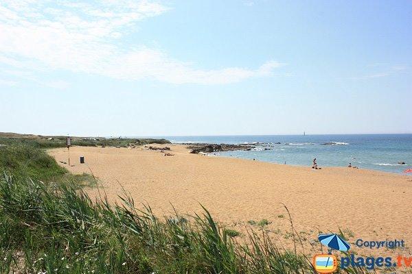Photo de la plage dans l'anse de Chaillé - Les Sables d'Olonne