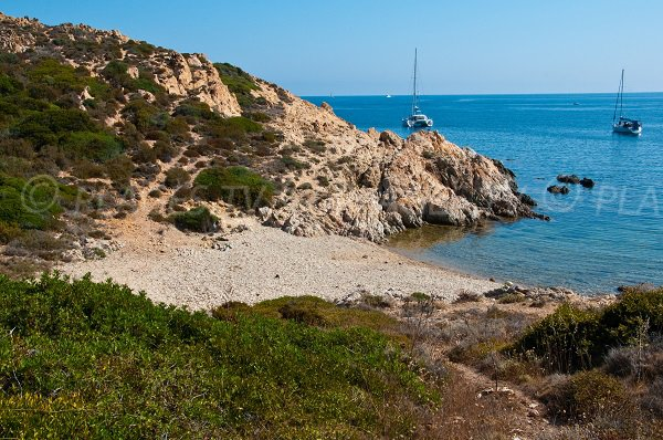 Creek in the Revellata gulf in Corsica