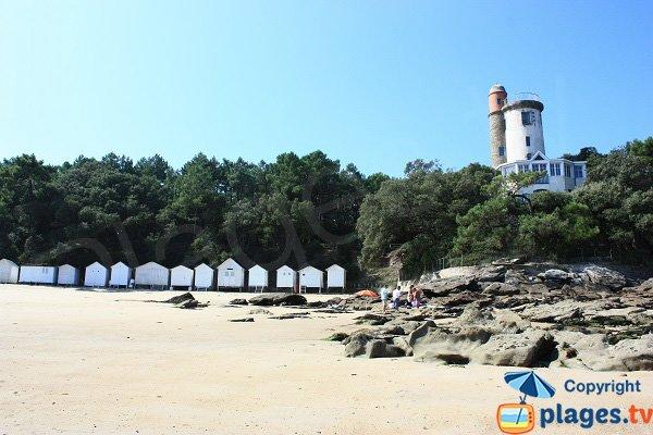 Cabines de bains sur la plage de l'anse rouge - Noirmoutier