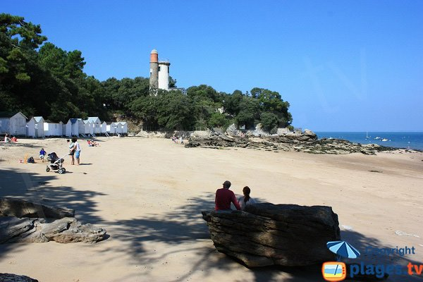 Photo of the anse rouge in Noirmoutier in France