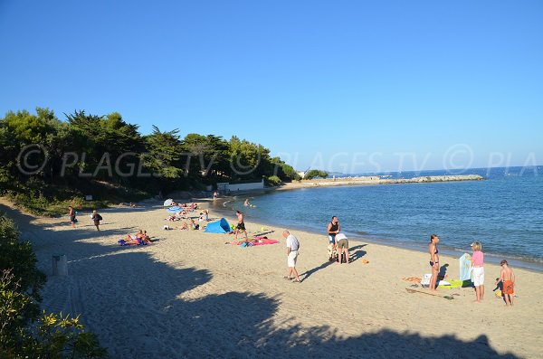 Central beach in Vieux Moulin bay - Port-Grimaud