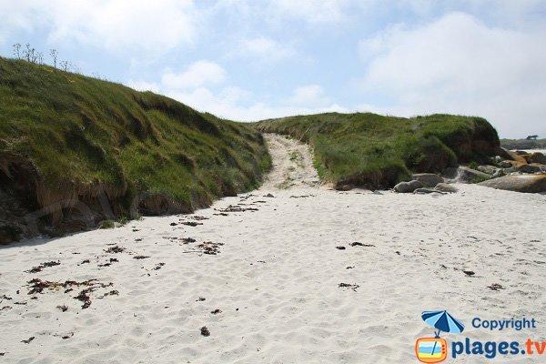 Accès à la plage d'Aod Vraz sur Batz - Bretagne