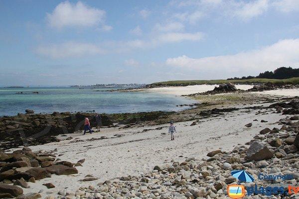 Photo de la plage d'Aod Vraz sur l'ile de Batz