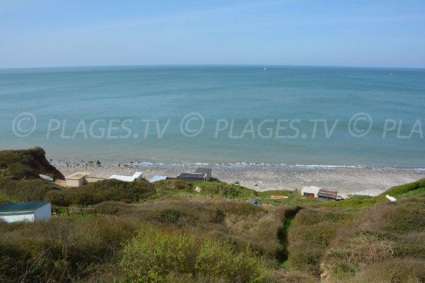 Vue sur la Manche depuis les falaises d'Aquacaux