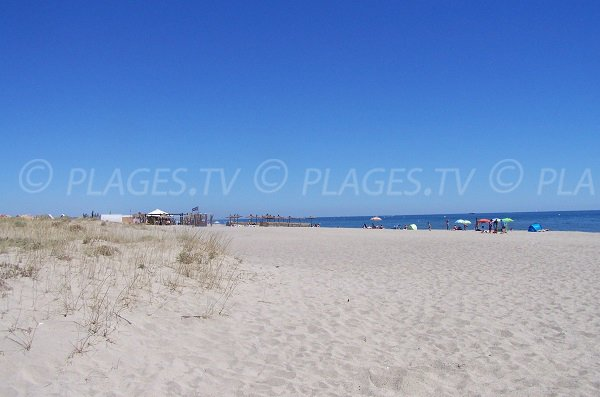 Aqualand beach in Leucate in France