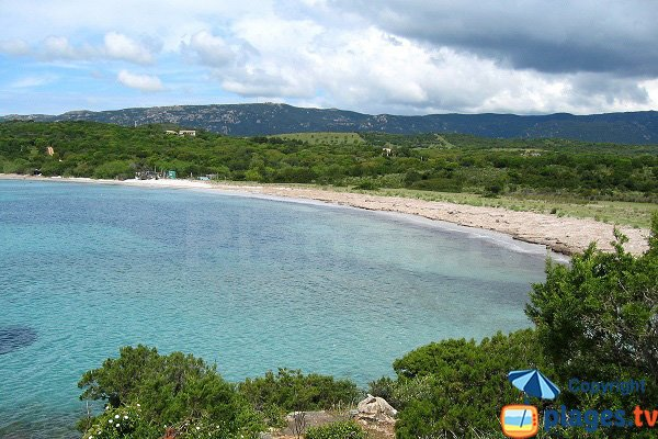Photo de la plage d'Arbitru en Corse