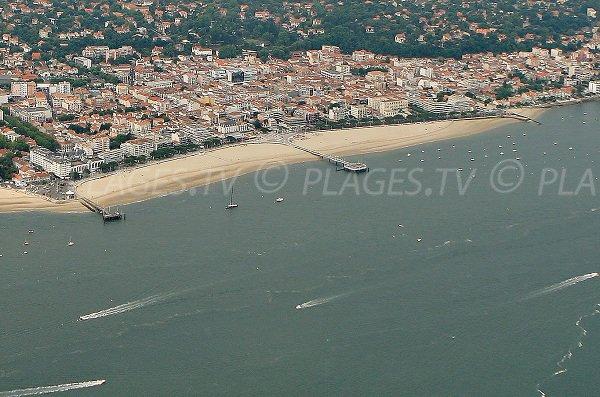 Main beach of Arcachon - France