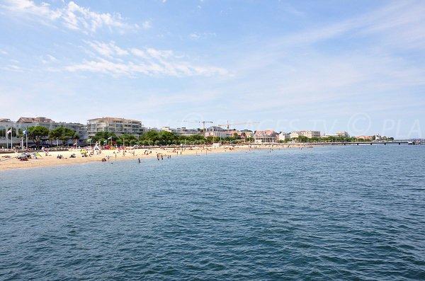 Arcachon beach in summer