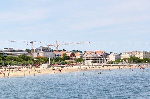 Public beach in Arcachon in France