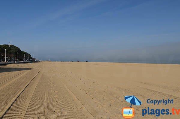 Beach of Arcachon at Thiers pier