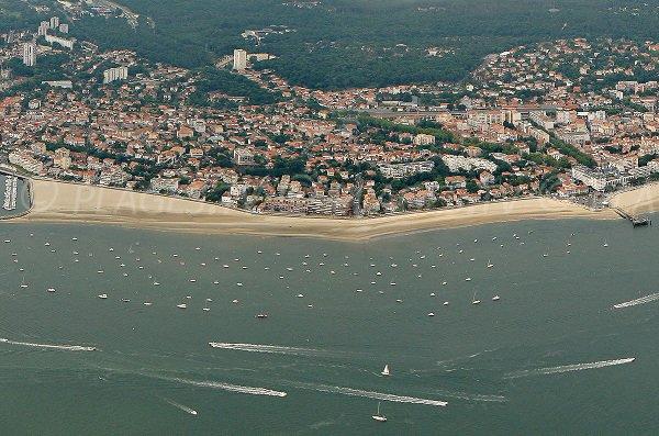 Arcachon beach in France