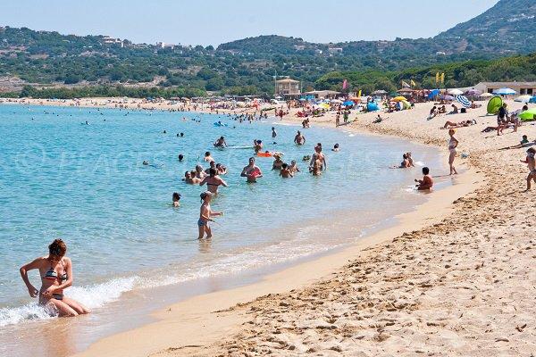 Aregno beach in Corsica - Algajola