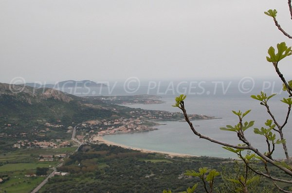 Aregno beach and view on Algajola and Sant Ambroggio - Corsica