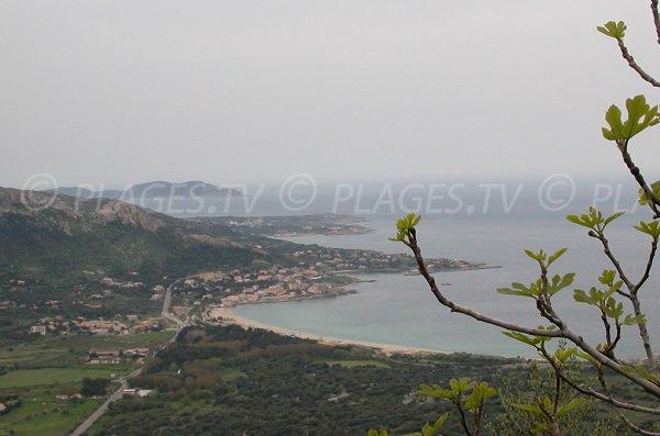 Aregno beach and view on Algajola and Sant Ambroggio - Corsica