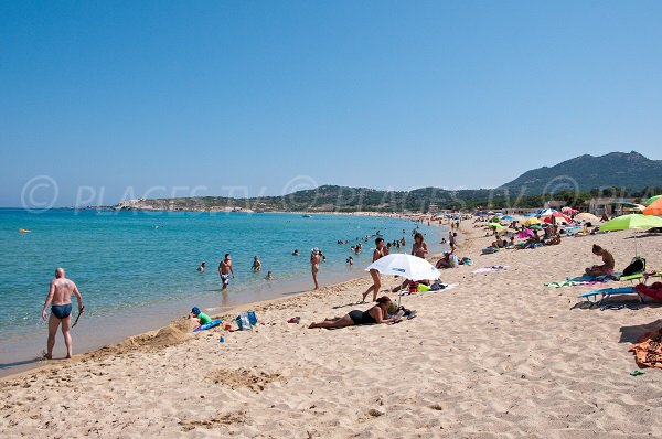 Photo of Aregno beach in Algajola in Corsica