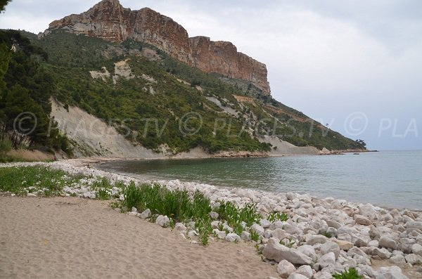 Strand der Arena von Cassis und Cap Canaille