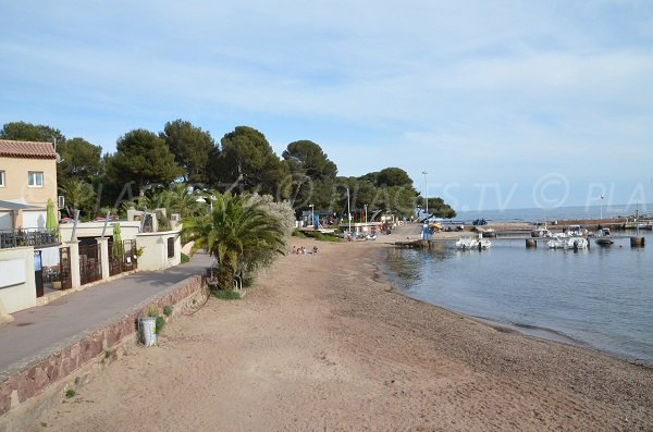Promenade of  the Port of Boulouris in Saint Raphaël - South of France