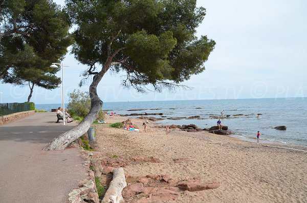 Beach in Boulouris in St Raphael in France