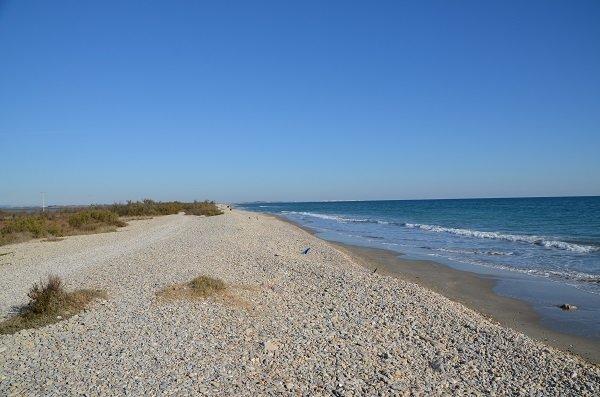 Arequiers beach - wild beach in Frontignan