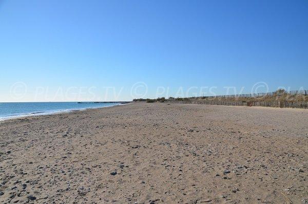 Photo de la plage de sable de Frontignan les Aresquiers