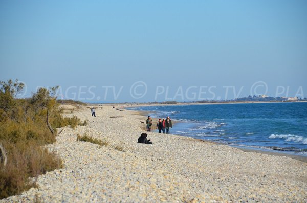 Aresquiers beach in Frontignan towards Maguelone